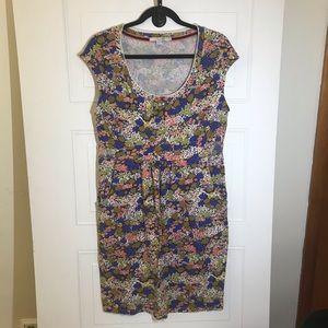 EUC Boden Jersey Floral Print Dress Size 12